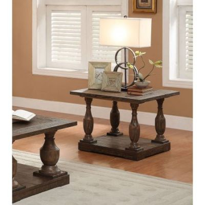 Hanson End Table in Salvage Brown - 81607