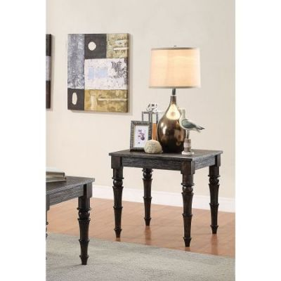 Kami End Table in Antique Black - 81616