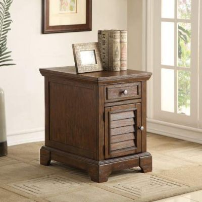 Evrard Side Table with Dark Oak Finish - 82752