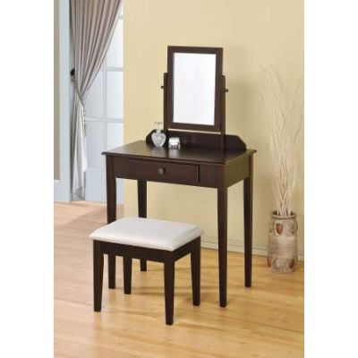 Jamy Vanity Set with Espresso Finish - 90040