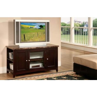 Finely TV Stand in Faux Marble & Espresso - 91002