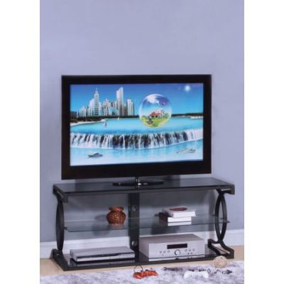 Milo TV Stand in Sandy Black - 91128