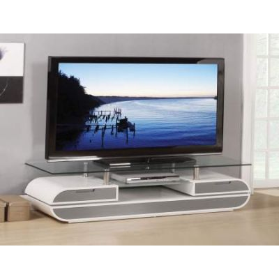 Lainey TV Stand in White & Gray - 91142