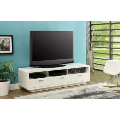 Randell TV Stand in White - 91300