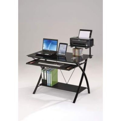 Erma Computer Desk in Black - 92078