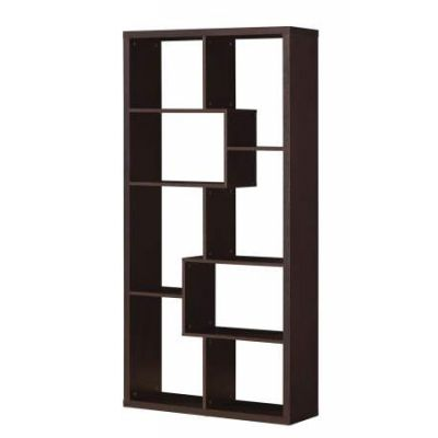 Mileta Bookcase in Cappuccino - 92089