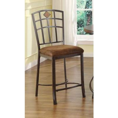 Tavio Counter Height Chair in Black & Gold - 96062