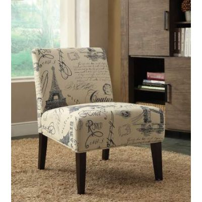 Reece Accent Chair  with Fabric & Espresso Finish - 96225