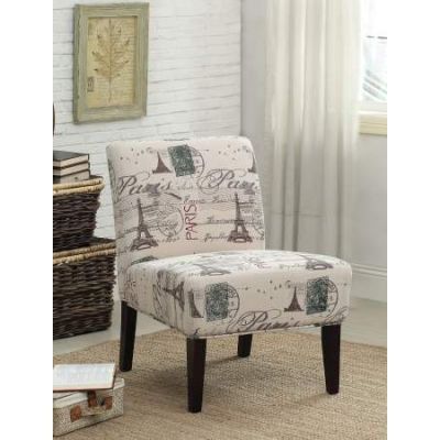 Reece Accent Chair  with Fabric & Espresso Finish - 96227