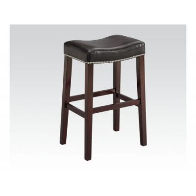 Lewis Bar Stool in Black PU & Espresso - 96294