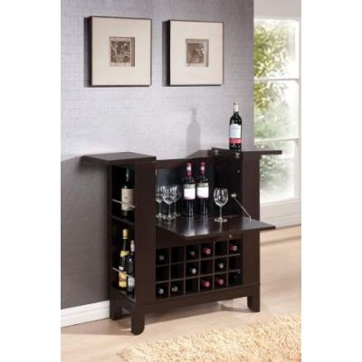 Nelson Wine Cabinet with Drawer in Wenge - 97010