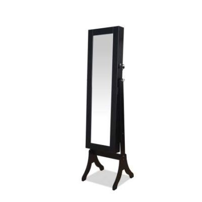 Hylda Jewelry Armoire with Black Finish (Floor Mirror) - 97065