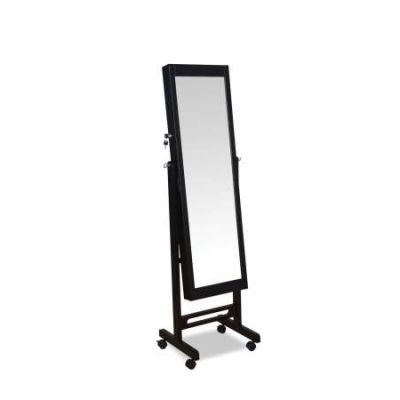Iggy Jewelry Armoire with Espresso Finish (Floor Mirror) - 97066