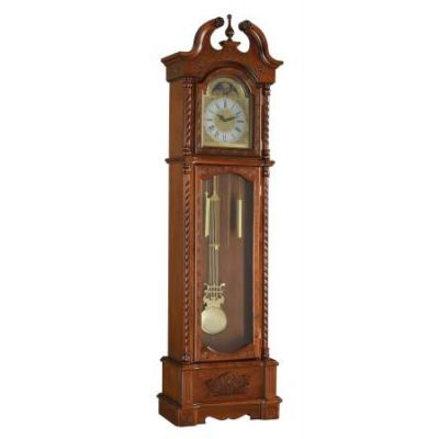 Quincey Grandfather Clock with Dark Oak Finish - 97085