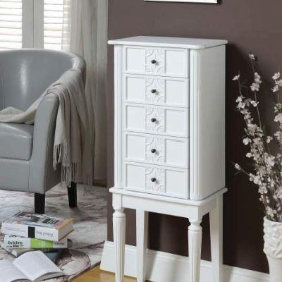 Tammy Jewelry Armoire with White Finish - 97167