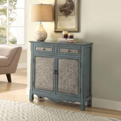 Winchell Console Table with Antique Blue Finish - 97245