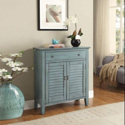 Winchell Console Table with Antique Blue Finish - 97247