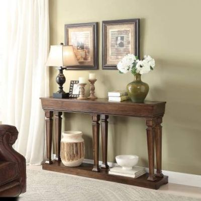 Garrison Console Table with Oak Finish - 97251