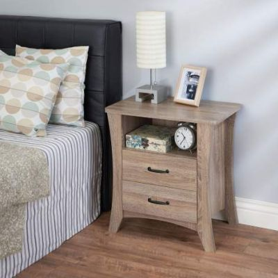 Colt Nightstand with Rustic Natural Finish - 97262