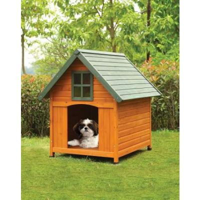 Wade Pet House with Honey Oak & Green Finish - 98202