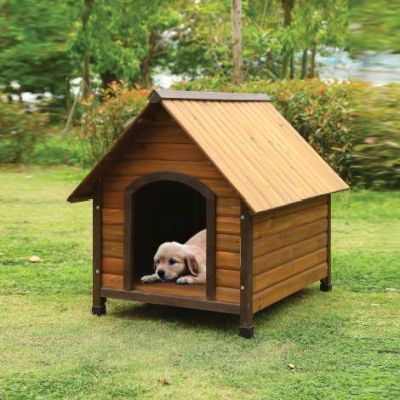 Woody Pet House with Oak Finish - 98206