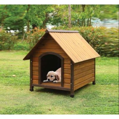 Woody Pet House with Oak Finish - 98208