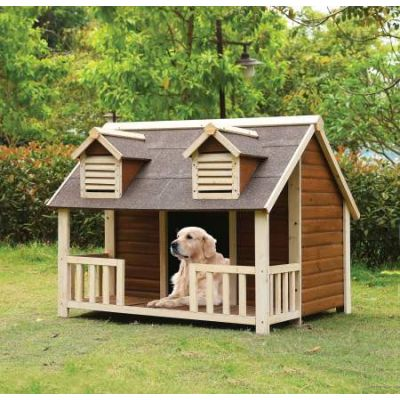 Rufus Pet House with Cream & Oak Finish - 98210