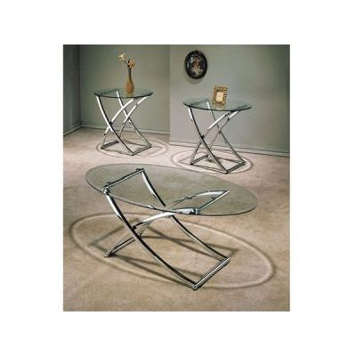 Paradise 3 Piece Occational Table in Nickel Plated - 000753_kit