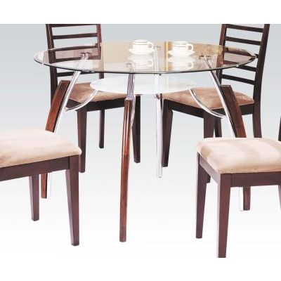Martini Chrome Dining Table in Brown Cherry - 000756_kit