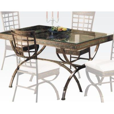Egyptian Dining Table in Bronze Platina - 000759_kit