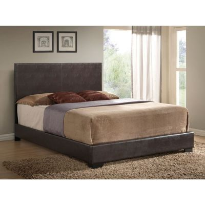 Ireland Queen Panel Bed in Brown - 000781_kit