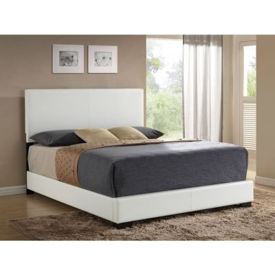 Ireland Queen Panel Bed in White - 000784_kit