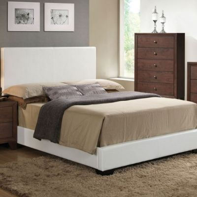 Ireland Full Panel Bed in White - 000785_kit