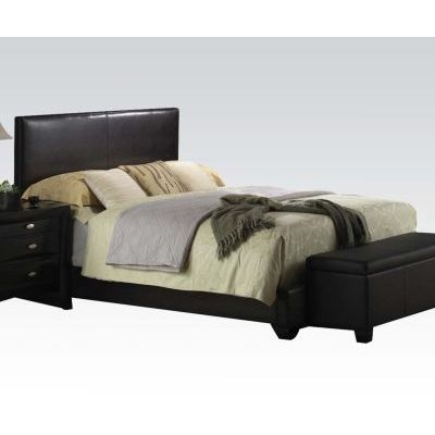 Ireland Full Panel Bed in Black - 000786_kit