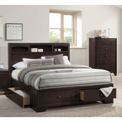 Madison II Eastern King Bed in Espresso - 000688_kit