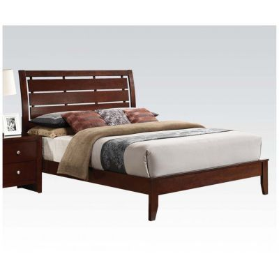 Ilana Queen Bed in Brown Cherry - 000810_kit