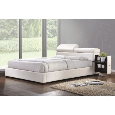 Manjot Eastern King Bed in White - 000812_kit
