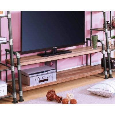 Caitlin II TV Stand in Oak and Sandy Black - 000735_kit