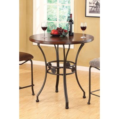 Tavio Walnut Dark Bronze Bar Table - 000715_kit