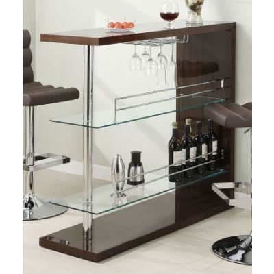 Rectangular Home Bar Unit in Cappuccino - 100166