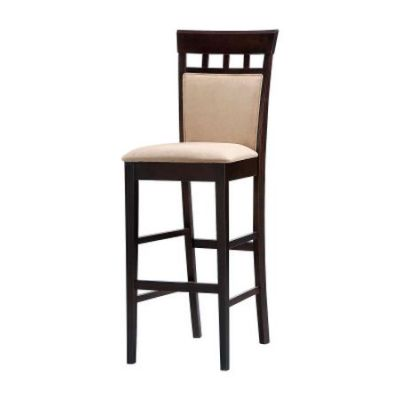 Cappuccino Upholstered Back Seat Bar Stool