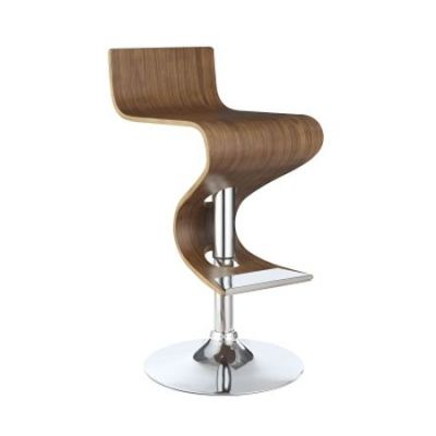 Adjustable Bar Stool in Walnut