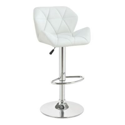 Height Adjustable Bar Stool in White