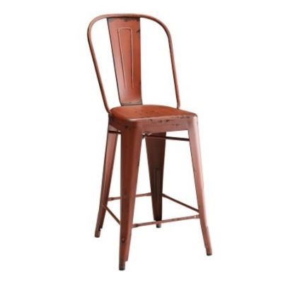 Lahner Red Counter Ht Stool - 104883
