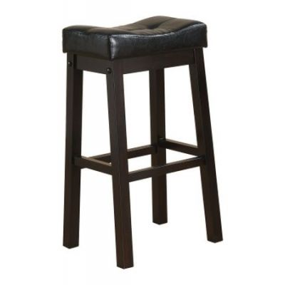 29-Inch Padded Seat Cappuccino Saddle Bar Stool - 120520