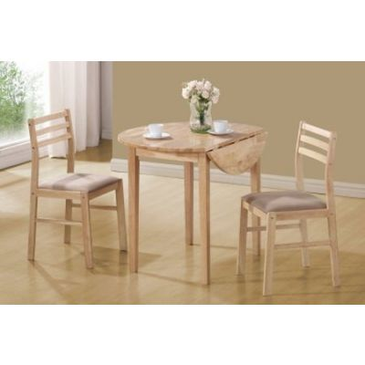 Dinettes Casual 3 Piece Table and Chair Set in Natural - 130006