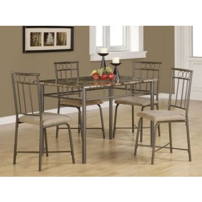 Dinettes 5 Piece Dining Set in Tan and Black - 150114