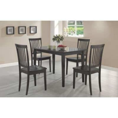 Oakdale 5-Piece Stoneberry Dining Set in Cappuccino Finish - 150152