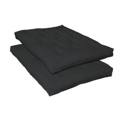 Six Inch Innerspring Futon Pad in Black - 2005IS