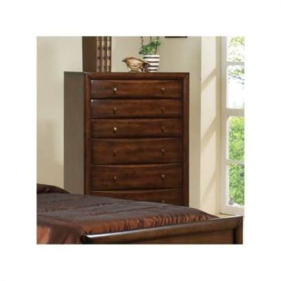 Hillary & Scottsdale 6 Drawer Chest in Brown Finish - 200645